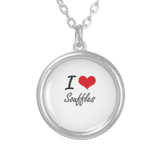 I love Souffles Round Pendant Necklace