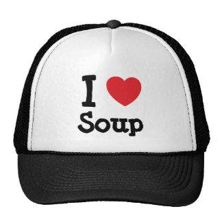 I love Soup heart T-Shirt Cap