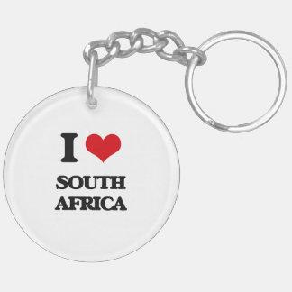 I Love South Africa Acrylic Keychain