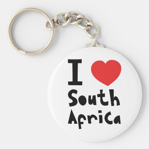 I love South Africa Keychain