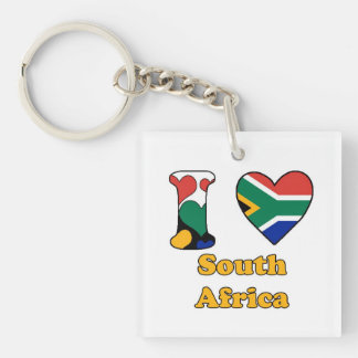I love South Africa Single-Sided Square Acrylic Key Ring