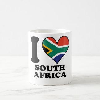 I Love South Africa South African Flag Heart Coffee Mug