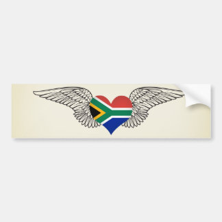 I Love South Africa -wings Bumper Sticker