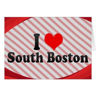 I Love South Boston, United States Card