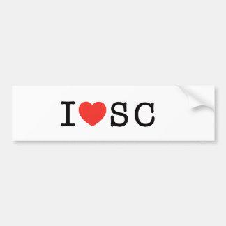 I LOVE South Carolina Bumper Sticker