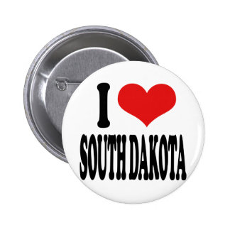I Love South Dakota Pin