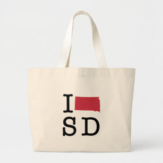 I Love South Dakota Canvas Bags
