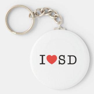 I LOVE South Dakota Basic Round Button Key Ring