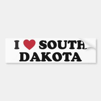I Love South Dakota Car Bumper Sticker