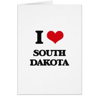 I Love South Dakota Card