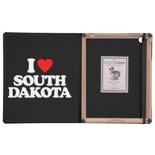 I LOVE SOUTH DAKOTA iPad CASES