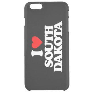 I LOVE SOUTH DAKOTA CLEAR iPhone 6 PLUS CASE