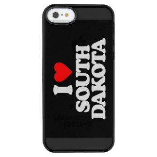 I LOVE SOUTH DAKOTA CLEAR iPhone SE/5/5s CASE