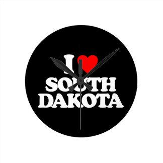 I LOVE SOUTH DAKOTA WALLCLOCK