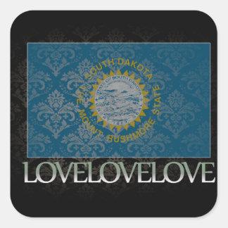 I love South Dakota Cool Square Sticker