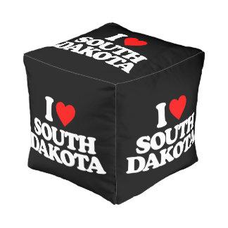 I LOVE SOUTH DAKOTA CUBE POUFFE