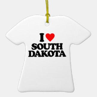I LOVE SOUTH DAKOTA ORNAMENTS