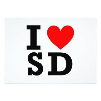 I Love South Dakota Design 13 Cm X 18 Cm Invitation Card