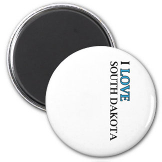 I Love South Dakota Design 6 Cm Round Magnet