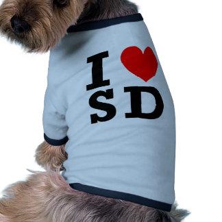 I Love South Dakota Design Dog Shirt