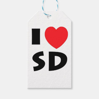 I Love South Dakota Gift Tags