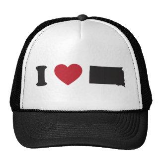 I Love South Dakota Trucker Hats