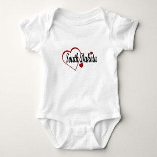 I Love South Dakota Hearts Infant Creeper