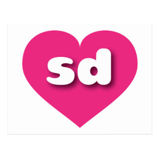 I love South Dakota hot pink heart Post Cards