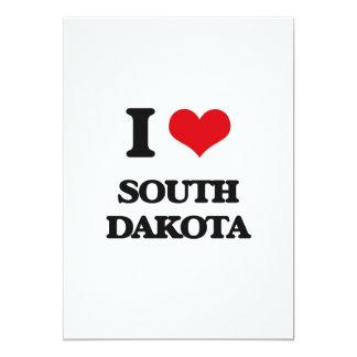 "I Love South Dakota 5"" X 7"" Invitation Card"