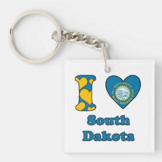 I love South Dakota Acrylic Key Chain