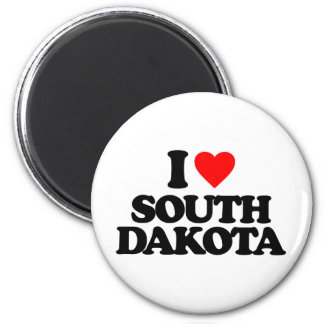 I LOVE SOUTH DAKOTA FRIDGE MAGNET