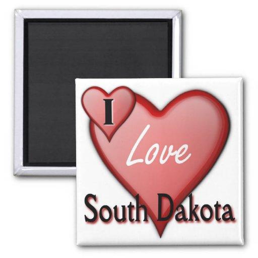 I Love South Dakota Magnet