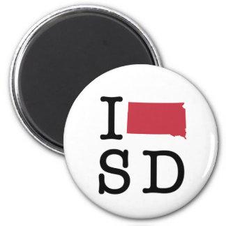 I Love South Dakota Refrigerator Magnets