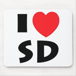 I Love South Dakota Mouse Pad