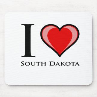 I Love South Dakota Mousepads