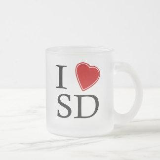I Love South Dakota Frosted Glass Mug