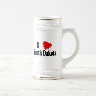 I Love South Dakota Beer Steins