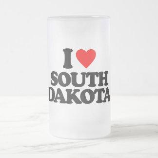 I LOVE SOUTH DAKOTA GLASS BEER MUG