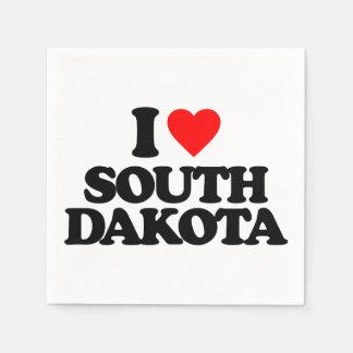 I LOVE SOUTH DAKOTA PAPER NAPKINS