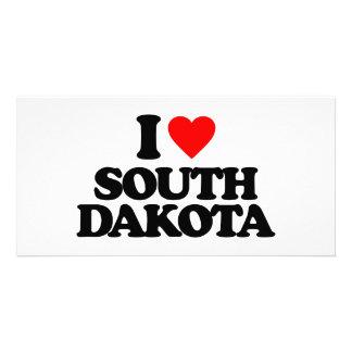 I LOVE SOUTH DAKOTA PHOTO GREETING CARD