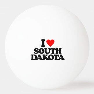 I LOVE SOUTH DAKOTA PING PONG BALL