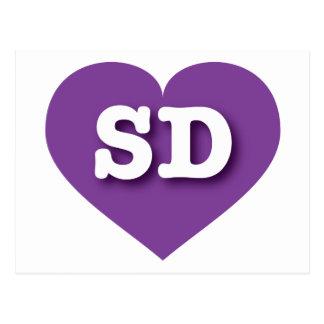 I love South Dakota purple heart Postcard