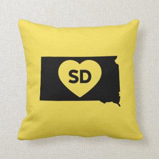 "I Love South Dakota State Throw Pillow 16"" x 16"""