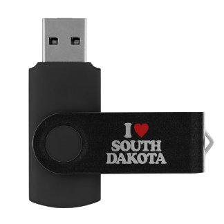 I LOVE SOUTH DAKOTA SWIVEL USB 2.0 FLASH DRIVE