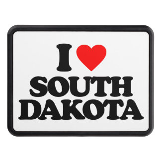 I LOVE SOUTH DAKOTA TRAILER HITCH COVER