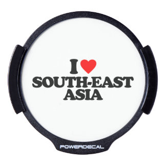 I LOVE SOUTH-EAST ASIA LED CAR WINDOW DECAL