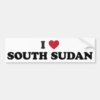 I Love South Sudan Bumper Sticker