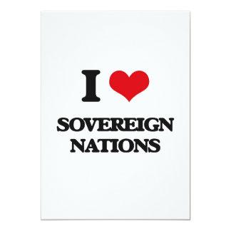 "I love Sovereign Nations 5"" X 7"" Invitation Card"
