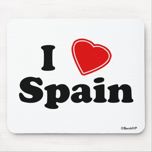 I Love Spain Mousepad
