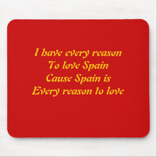I love spain mouse pad
